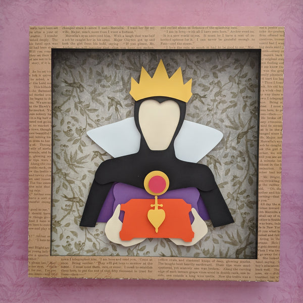 "Evil Queen - 8""x8"" Shaowbox PaperCut"