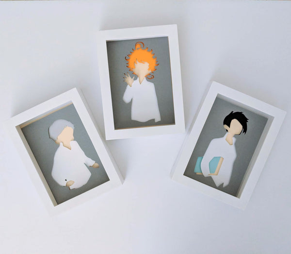 Ray, Promised Neverland Shaowbox PaperCut