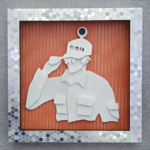 "White Blood Cell - 8""x8"" Shadowbox PaperCut"