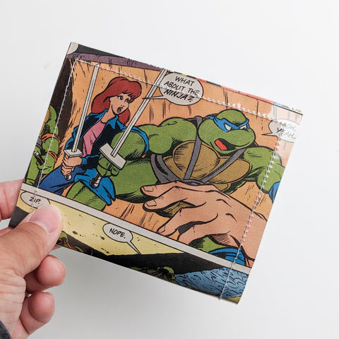 Teenage Mutant Ninja Turtles, TMNT - Upcycled Comic Book Vinyl Wallet
