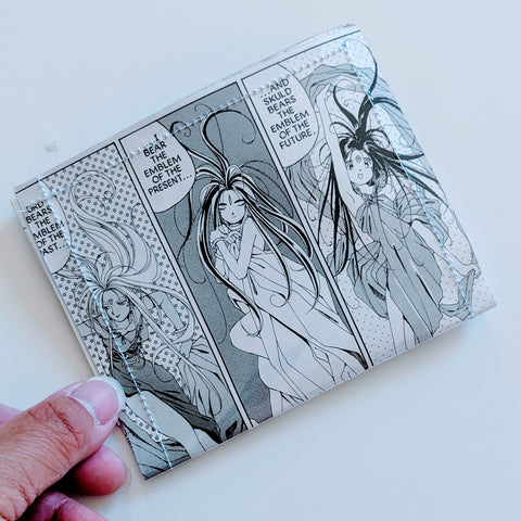 Ah Oh My Goddess - Upcycled Comic Book Vinyl Wallet