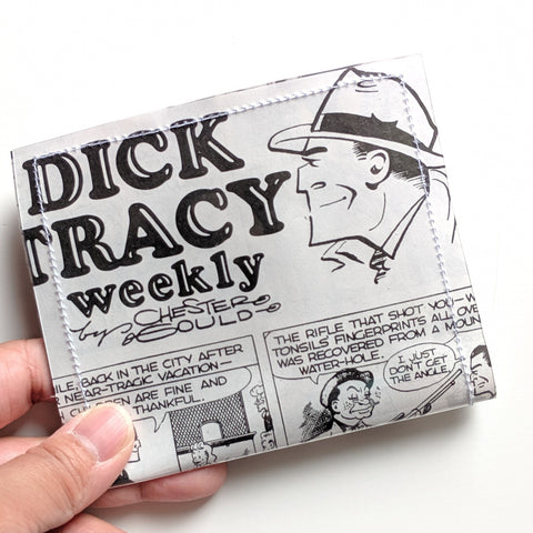 Dick Tracy - Upcycled Comic Book Vinyl Wallet