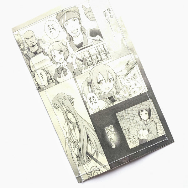 Sword Art Online SAO - Upcycled Comic Book Vinyl Wallet