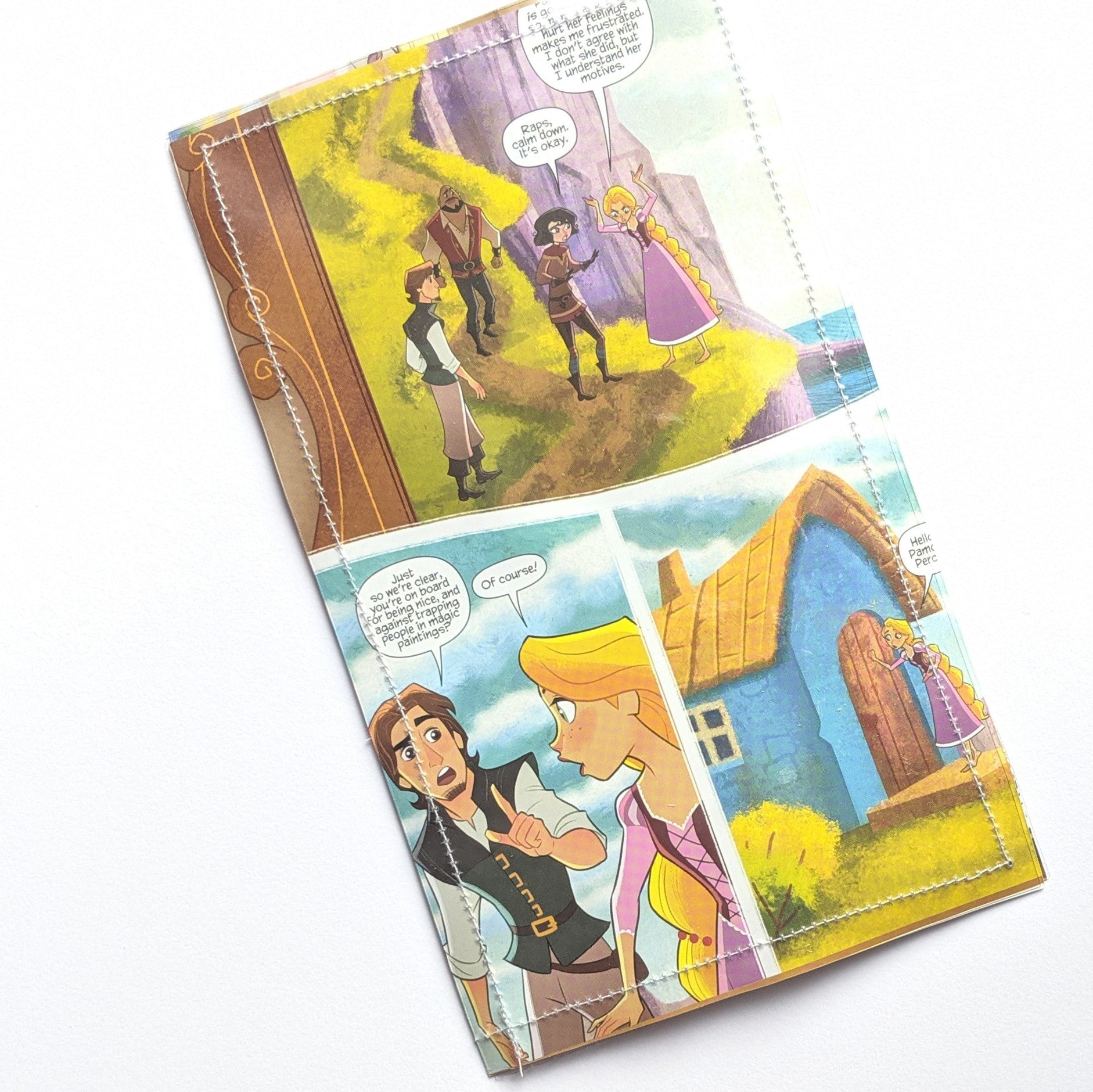 Tangled Rapunzel - Upcycled Comic Book Vinyl Wallet