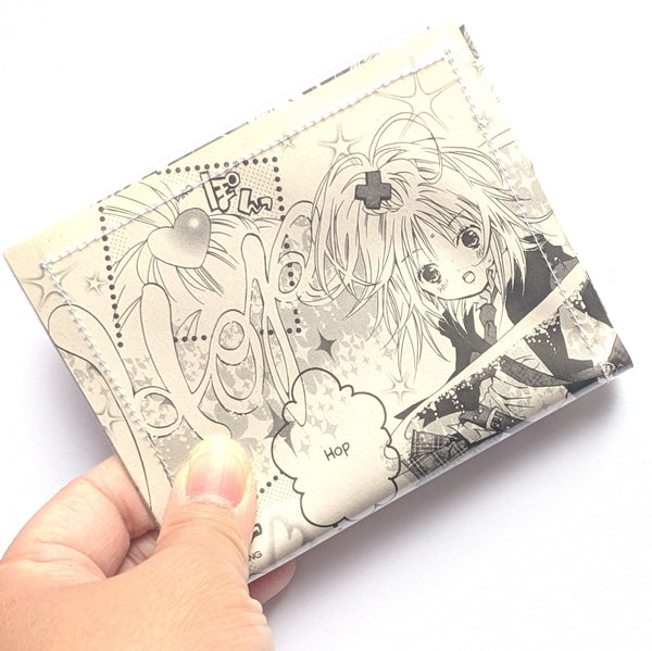 Shugo Chara - Upcycled Comic Book Vinyl Wallet
