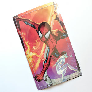 Spiderman - Upcycled Comic Book Vinyl Wallet