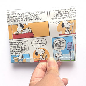 Snoopy - Upcycled Comic Book Vinyl Wallet