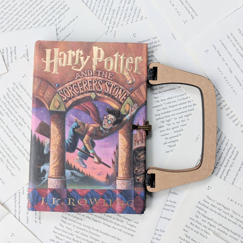 Harry Potter and the Sorcerer's Stone- Upcycled Recycled Tote Book Purse