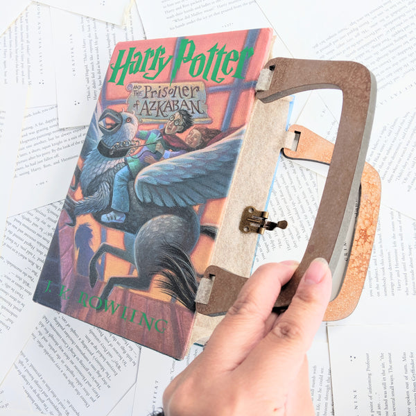 Harry Potter and the prisoner of azkaban - Upcycled Recycled Tote Book Purse