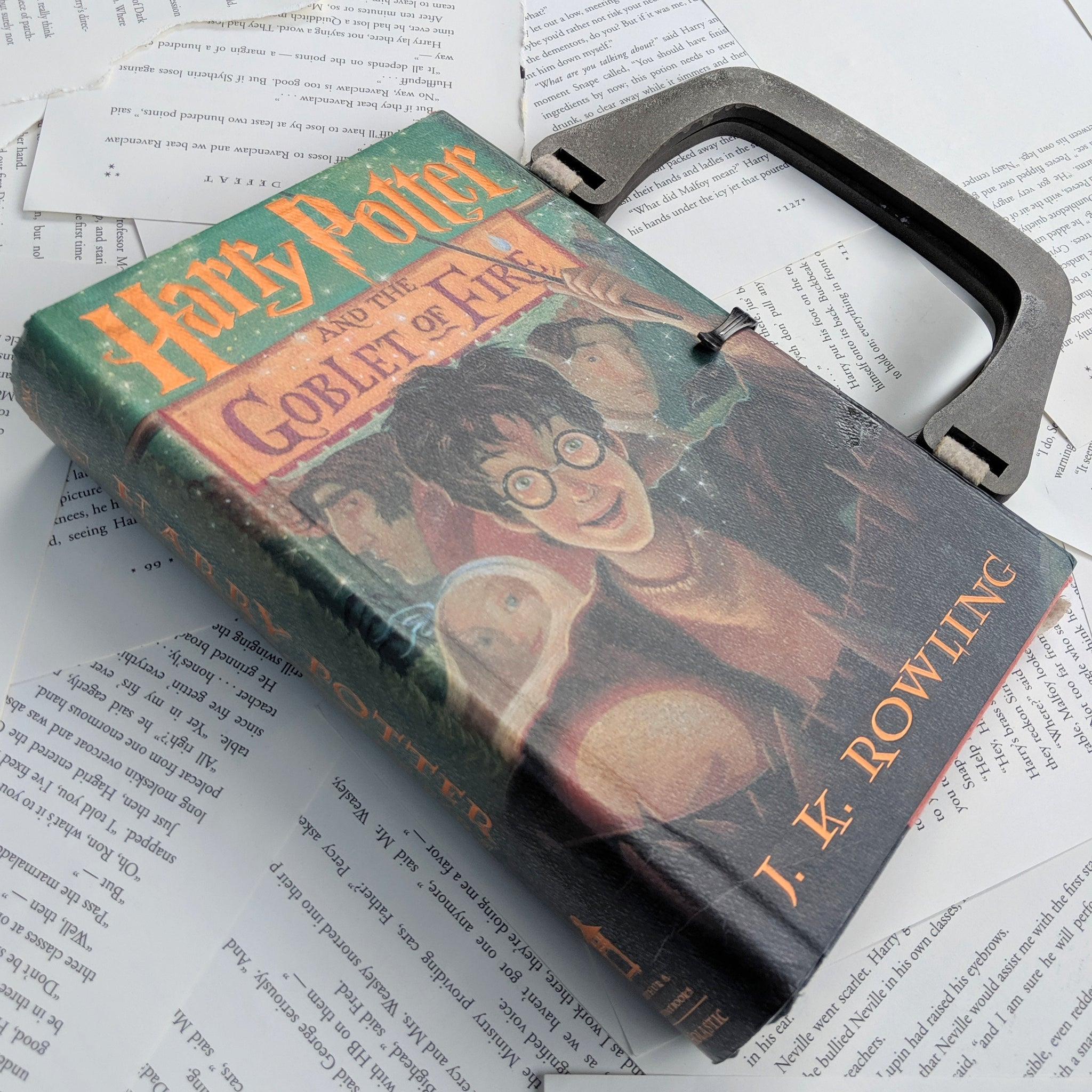 Harry Potter and the Goblet of Fire - Upcycled Recycled Tote Book Purse