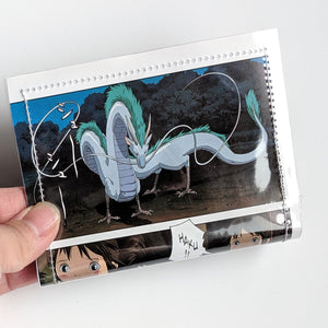 Spirited Away - Upcycled Comic Book Vinyl Wallet