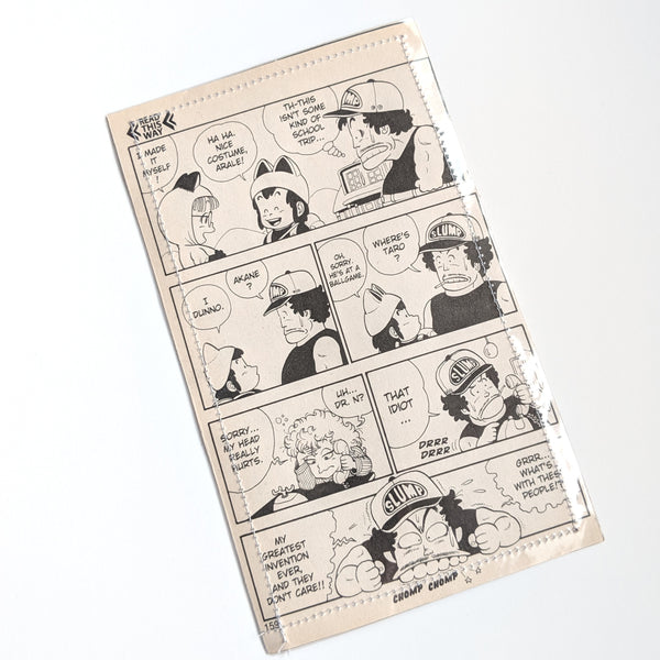 Dr Slump  - Upcycled Comic Book Vinyl Wallet