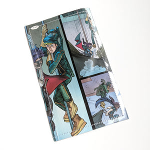 Kickass and Hit Girl - Upcycled Comic Book Vinyl Wallet