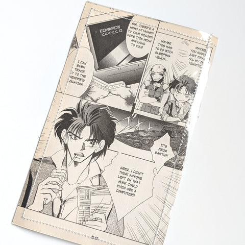 Cowboy Bebop- Upcycled Comic Book Vinyl Wallet
