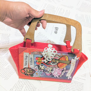 Ever After High, Next Top Villain - Upcycled Recycled Tote Book Purse