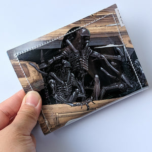 Alien  - Upcycled Comic Book Vinyl Wallet