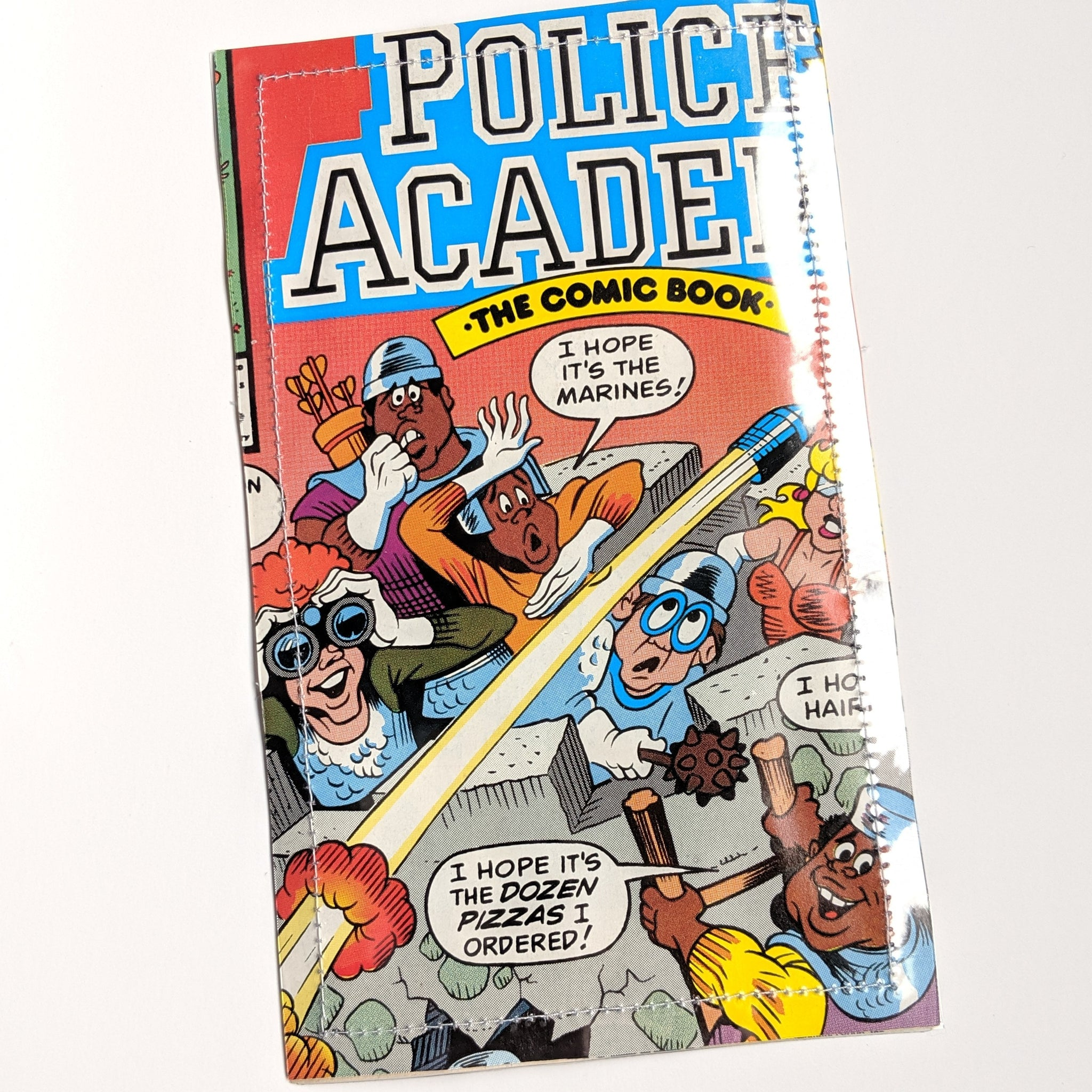 Police Academy  - Upcycled Comic Book Vinyl Wallet