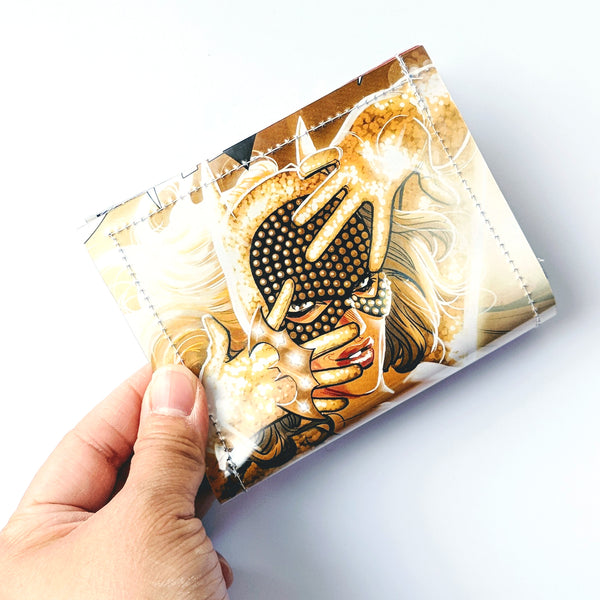 BatGirl - Upcycled Comic Book Vinyl Wallet