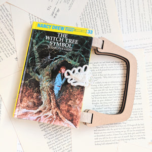 Nancy Drew, The Witch Tree Symbol  - Upcycled Recycled Tote Book Purse