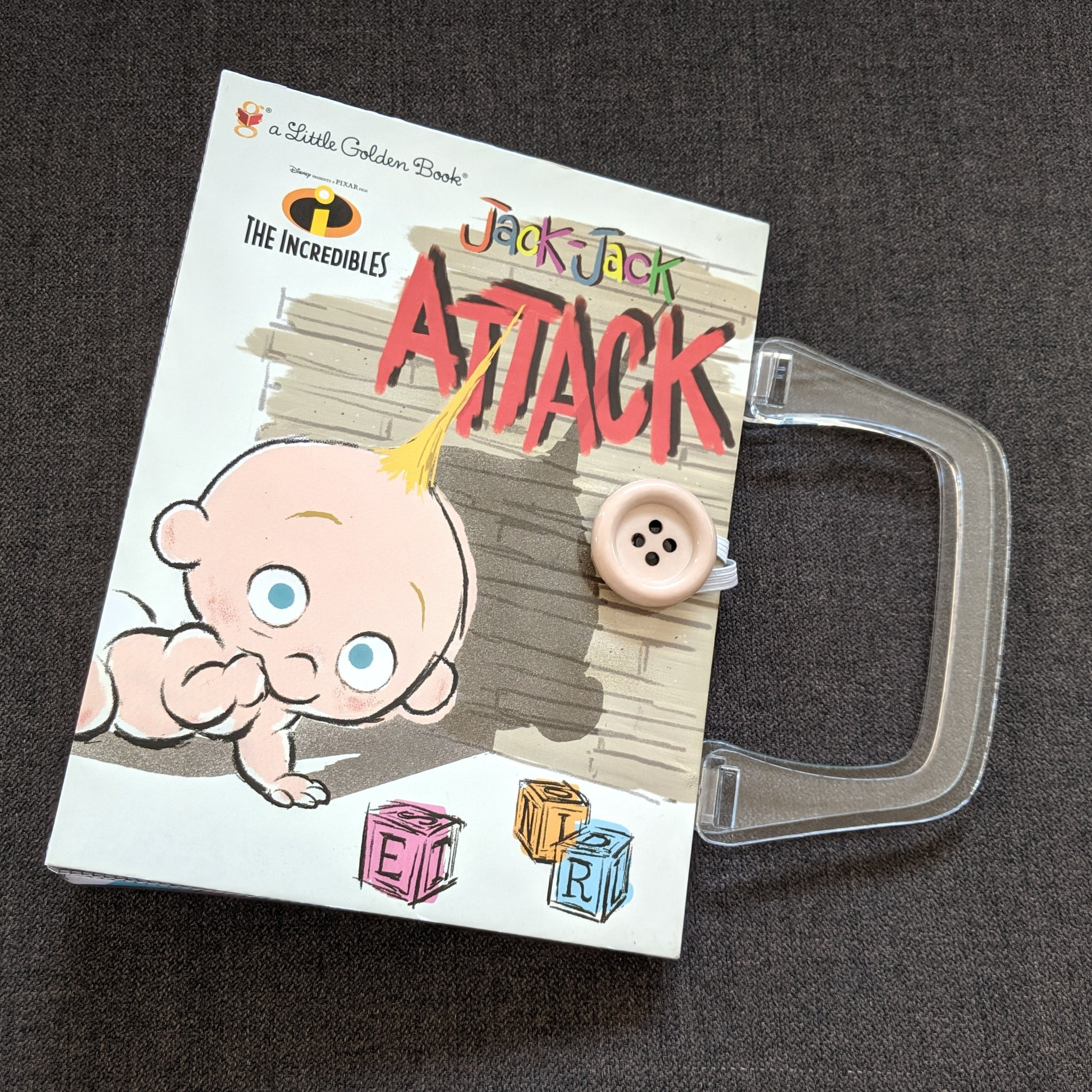 Jack Attack Incredibles, Golden Book - Upcycled Recycled Tote Book Purse