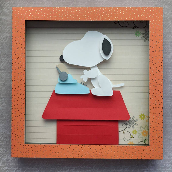 "Snoopy - 8""x8"" Shaowbox PaperCut"