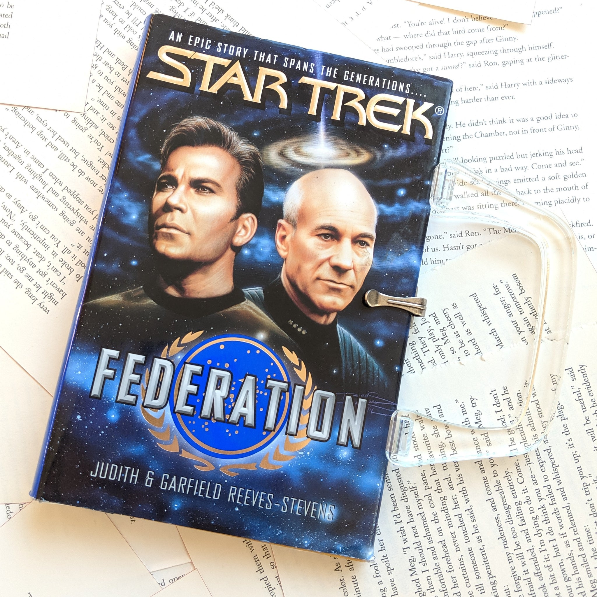 Star Trek Federation - Upcycled Recycled Tote Book Purse