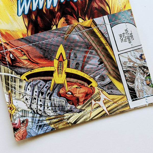 Ultraman  - Upcycled Comic Book Vinyl Wallet