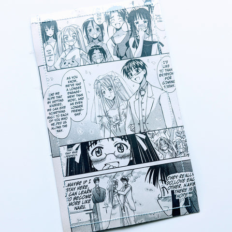 Love Hina - Upcycled Comic Book Vinyl Wallet