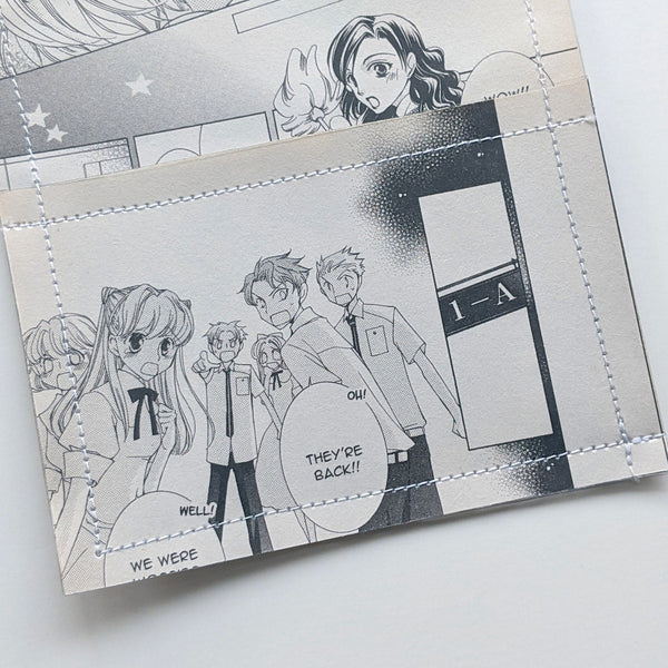 Ouran Host Club  - Upcycled Comic Book Vinyl Wallet