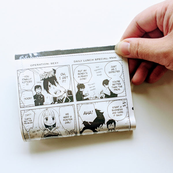 Ao no Exorcist, Blue Exorcist - Upcycled Comic Book Vinyl Wallet