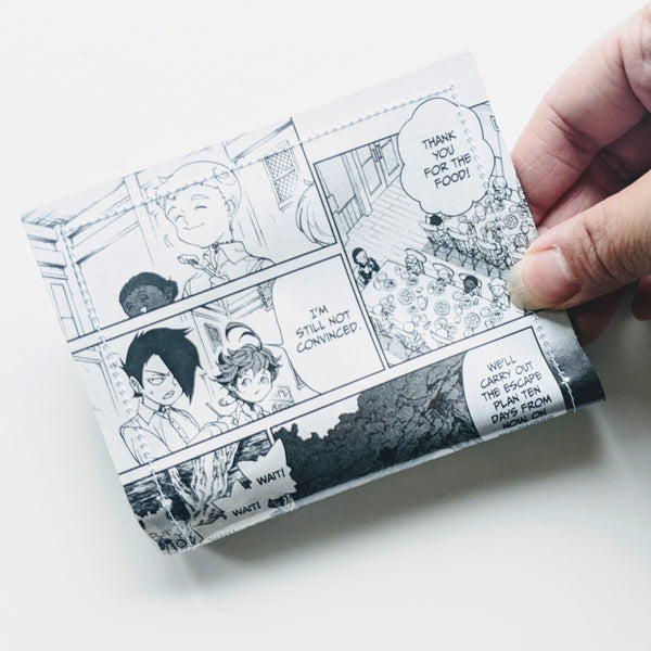 Promised Neverland - Upcycled Comic Book Vinyl Wallet - Upcycled Comic Book Vinyl Wallet