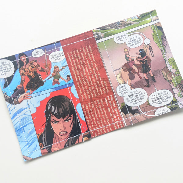 Xena - Upcycled Comic Book Vinyl Wallet