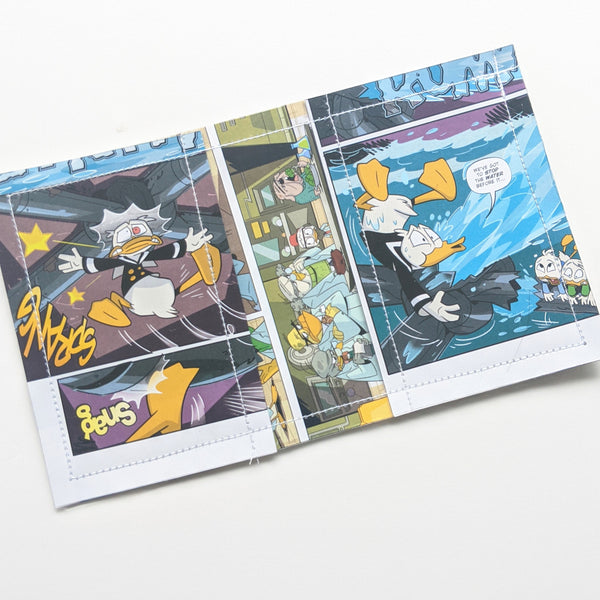 Ducktales - Upcycled Comic Book Vinyl Wallet