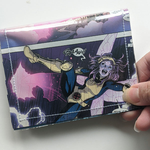 Xmen - Upcycled Comic Book Vinyl Wallet - Upcycled Comic Book Vinyl Wallet