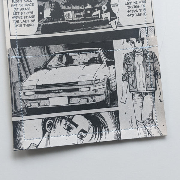 Initial D - Upcycled Comic Book Vinyl Wallet