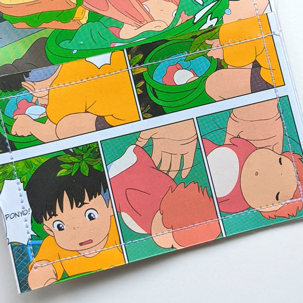 Ponyo - Upcycled Comic Book Vinyl Wallet