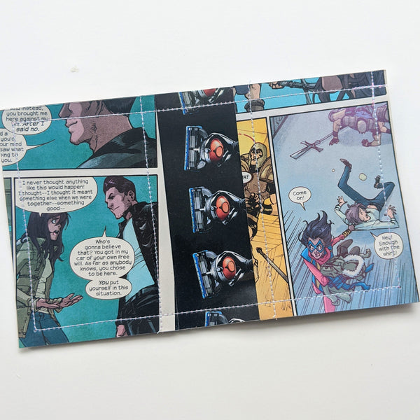 Kamala Khan Ms Marvel - Upcycled Comic Book Vinyl Wallet
