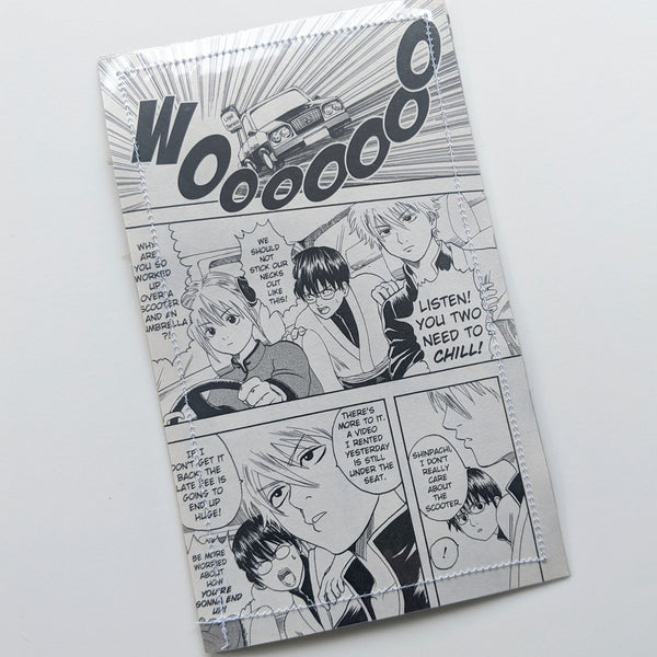 Gintama - Upcycled Comic Book Vinyl Wallet