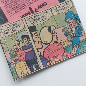 Sabrina and Teenage Witch - Upcycled Comic Book Vinyl Wallet