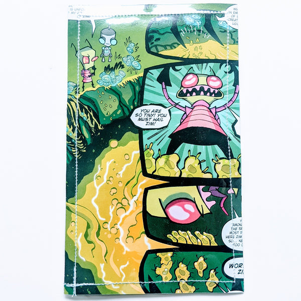 Invader Zim - Upcycled Comic Book Vinyl Wallet