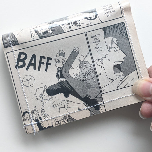 Full Metal Alchemist - Upcycled Comic Book Vinyl Wallet