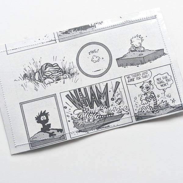 Calvin and Hobbes - Upcycled Comic Book Vinyl Wallet