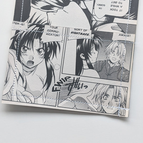 Full Metal Panic - Upcycled Comic Book Vinyl Wallet