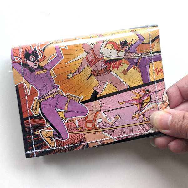 Bat Girl - Upcycled Comic Book Vinyl Wallet