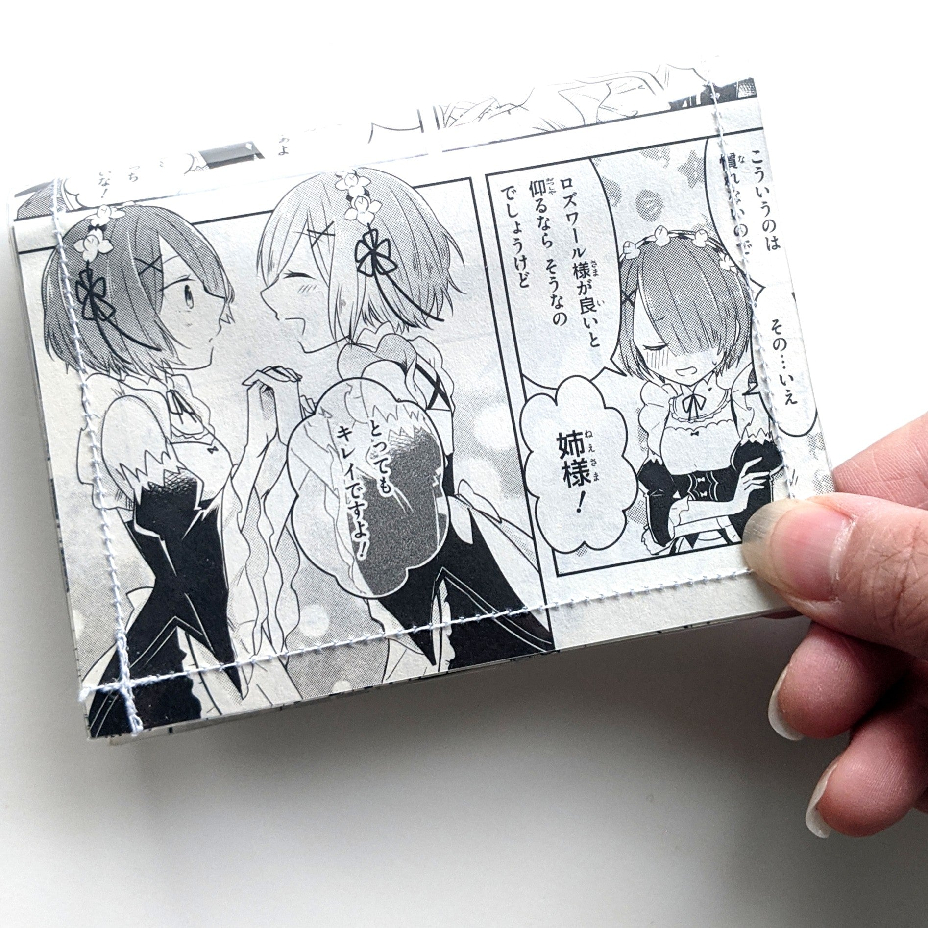 ReZero Rem and Ram - Upcycled Comic Book Vinyl Wallet