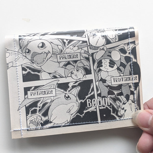 Digimon - Upcycled Comic Book Vinyl Wallet - Upcycled Comic Book Vinyl Wallet