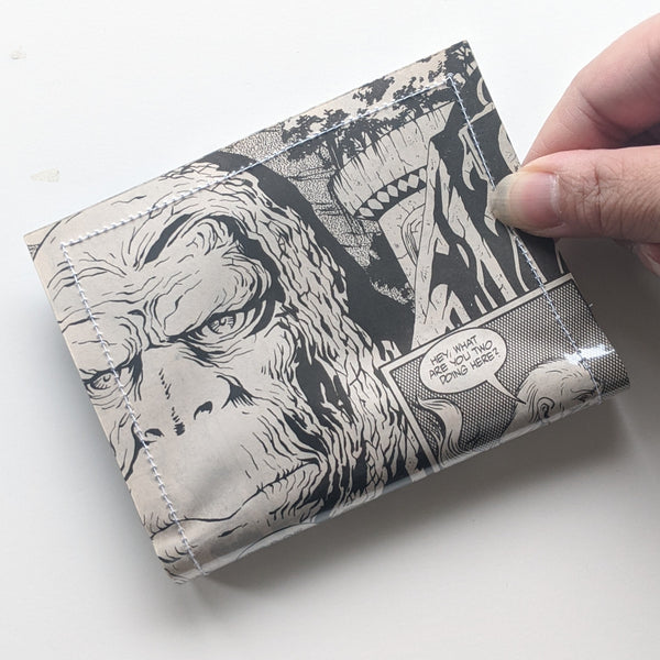 Planet of the Ape - Upcycled Comic Book Vinyl Wallet - Upcycled Comic Book Vinyl Wallet