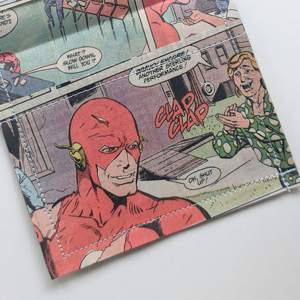 The Flash - Upcycled Comic Book Vinyl Wallet
