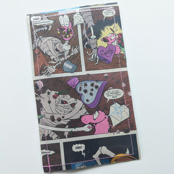 Courage the Cowardly Dog - Upcycled Comic Book Vinyl Wallet