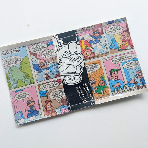 Alvin and the Chipmunks - Upcycled Comic Book Vinyl Wallet